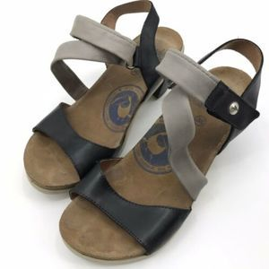Wanda Panda Comfort Sandals Size 36 Black Gray